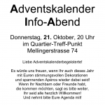Informationen zu den Adventsfenstern 2010