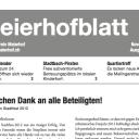 Meierhofblatt 2012/2