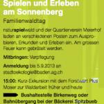 Badener Umweltwochen – Familienwaldtag