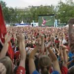 Public Viewing während der Fussballweltmeisterschaft 2014