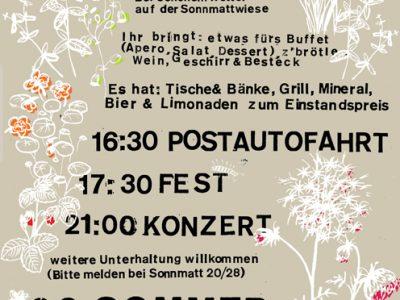 90igsten Sommer – Sonnmatt Fest